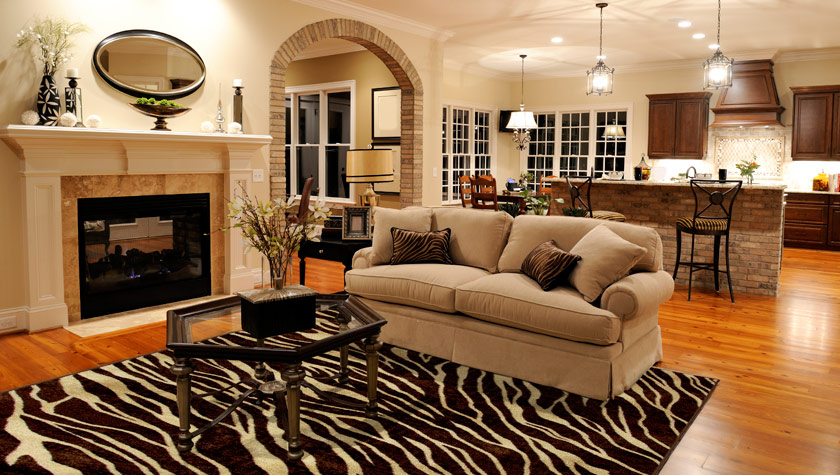 Custom bound area rugs